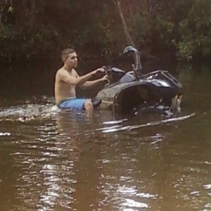 Tryin New Tires In Creek